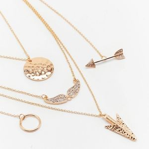 On the Straight and Arrow Layered Necklace